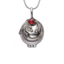 Cool Vampire Sliver Diamante Necklace