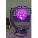 Rattan Ball Pendant LED Light USB Connection Desktop Night Light