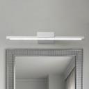 Satin White Tube Vanity Light Antifogging Waterproof 9W-16W Over Mirror Bathroom Vanity Lighting in Acrylic Shade 4 Sizes for Option