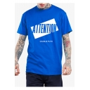 ATTENTION Letter Graphic Print Round Neck Short Sleeve T-Shirt