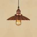 Industrial Style 1 Light Mini Restaurant Barn/Warehouse Pendant, Rust
