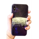 Starry Universe Moon Print Mobile Phone Case for iPhone