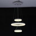 Contemporary Innertube LED Chandelier White 11.22