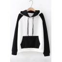 Girls Color Block Raglan Long Sleeve Hoodie