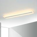 6 Sizes Available White Acrylic Linear Ceiling Lamp 19-62W Fully Illuminious LED Frosted Linear Fixture for Dining Room Kitchen Office (Warm White)