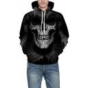3D Terror Skull Pattern Long Sleeve Hoodie