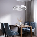 High Style Height Adjustable Single Ring Eclipse LED Chandelier 96 Watts 20.47