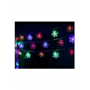 Colorful LED Snowflake String Lights