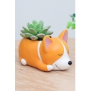 Mini Corgi Dog Resin Planter For Succulents Desktop Flowerpot