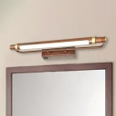 American Country Style Over Mirror Bathroom Art Work Lamp Antique Brass/Copper 4/6/10W Linear Vanity Light with Acrylic Shade 3 Sizes Available