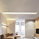Contemporary Lighting 35.04 Inch Long Acrylic LED Linear Pendant Light 30W Brushed Aluminum Indoor Decorative Linear Fixture for Dining Table Kitchen Study Room