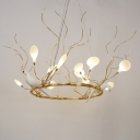 Designers Post Modern Lights Heracleum II LED Chandelier with Birds Decoration 36W 19.69