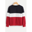 New Arrival Round Neck Long Sleeve Casual Pullover Sweatshirt