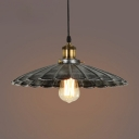Industrial Style Black Gray 1-Light Hanging Pendant Lamp with Scalloped Shade (4 Sizes for Choice)