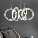 Color Changing 1 Light Twist LED Chandelier 9.05