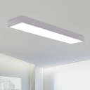 High Bay Linear Lighting Silver Finish 20W-40W Office Commercial Clothes Stores LED Rectangular  Ceiling Light 7.87