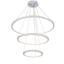 Cable DIY Design Tiered Round Crystal Chandelier 11.81