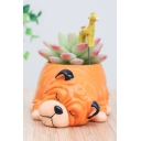 Funny Shar Pei Dog Resin Planter For Succulents Desktop Flowerpot
