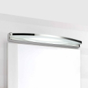 Over Mirror Bathroom Vanity Light Stainless Steel 8W-19W High Output Frosted Acrylic Linear Vanity Lighting in Chrome