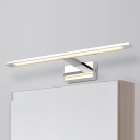 Hardwired Fully Luminous Bath Vanity Light LED Warm White Polished Chrome Line Vanity Lighting for Bathroom Bedside Cabinet 4 Sizes Available