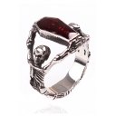 Diamante Skull Pattern Hollow Out Vampire Ring