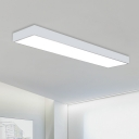 Office Room Lighting Ideas 11.81 Inch Wide LED Modern Linear Ceiling Light 35W-60W High Bay Rectangular LED Mount Lighting in White