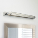 Reversible Bathroom Sconces Stainless Steel 5W-7W LED Warm White Linear Vanity Light 18.50