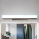 Stain Nickel LED Linear Vanity Lights 18W 3000/4200/6500K Frosted Acrylic Panel Vanity Lighting 22.24 Inch Long for Bathroom