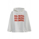 Chic THANK YOU Letter Print Long Sleeve Loose Unisex Hoodie