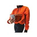 Mesh Pocket Patch Front Half-Zip Stand Collar Long Sleeve Sweatshirt