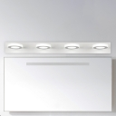 Contemporary Wall Lighting 3/6/9/12W Ambient 1/2/3/4 Light Blocks LED Vanity Light White Acrylic Round Wall Lighting Makeup Mirror Bathroom Shower Lights