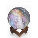 7 Color Changing Fancy Galaxy Print Moon Lamp Touch LED Night Light