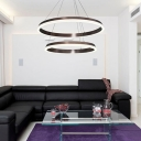 LED Ambinet Neutral Light Geometric Pendant 15.75