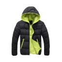 Winter Collection Long Sleeve Zip Up Hooded Padded Jacket for Men