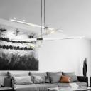 Ultra Modern Designers White Metal LED Tube Chandeliers Indoor Deco Lights 5W 4 Light/8 Light Led Linear Hanging Light for Bedroom Restaurant Cafe