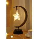Star Light Pendant Moon Rattan Desktop Night Light