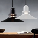 Industrial Country Style Black/White Industrial Vintage Large Pendant Lights