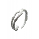 Branch Pattern Hollow Out Open Front Ring for Man