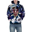 3D Clown Print Long Sleeve Unisex Loose Hoodie