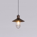 Industrial Style Rust Single Light Source Ceiling Pendant in Warehouse