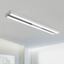 Modern LED Office Light Silver Double Linear Lights 47.24