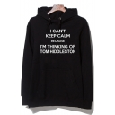 I CAN'T KEEP CALM Letter Print Long Sleeve Hoodie