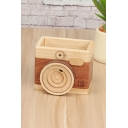 Wooden Camera Shape Large Capacity Pencil Container