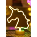 Fancy Battery Powered Unicorn Shape LED Lamp Desktop Night Light