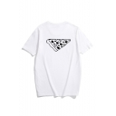 A Slice of Pizza Print Round Neck Short Sleeve T-Shirt