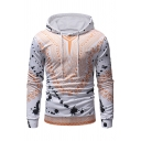 Paint Splatter Tribal Print Long Sleeve Slim Hoodie