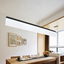 Contemporary Modern Lighting Ultra-thin Acrylic Led Linear Pendant Energy-Saving 20W 3000K-6000K Warm White Light Cord Adjustable Decorative Led Office Meeting Room Dining Room Kitchen Island Lighting