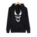 Monster Teeth Print Long Sleeve Casual Hoodie