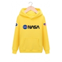 Unisex NASA Letter Graphic Pattern Long Sleeve Casual Hoodie