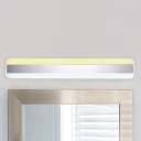 5 Sizes Available Modern Sconces Ultra Thin Acrylic LED Wall Light 15W-33W LED Ambinet Light Linear Vanity Light for Bathroom Bedside
